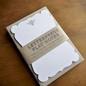 Vintage Honey Bee Letterpress Note Cards