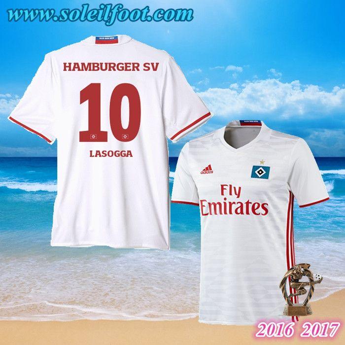 Maillot Du Hamburger SV (LASOGGA 10) Domicile 2016-2017 Pas Cheres