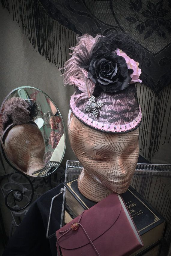 Women's Victorian Hat The Pink Lady by TheSistersBrimm on Etsy, $125.00