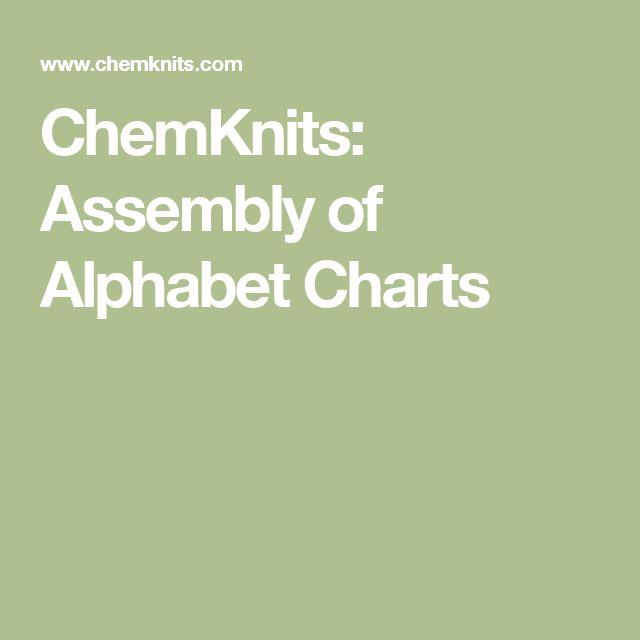 ChemKnits: Assembly of Alphabet Charts