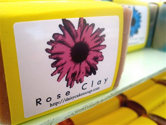 Natural Rose Clay Soap by daisycakessoap on Etsy