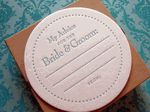 Advice for the Bride & Groom Coasters!  So cute for a Bridal Shower or at the Reception! $12.00