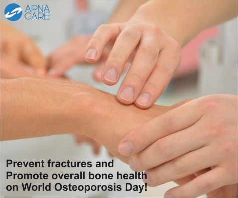 #WorldOsteoporosisDay  Osteoporosis is often called a silent disease as it rarely exhibits symptoms in the early stages. Read the blog to know more about the causes and symptoms of osteoporosis and the preventive measures to reduce bone loss. http://apnacare.in/world-osteoporosis-day-2016  #ApnaCare #healthcare #loveyourbone #makeurbonehealthapriority #elderlycare #homehealthcare #Alzheimers #endAlz #parkinsons #stroke #arthritis #neuro #neurology #neuroscience #cognitive #neurobrain