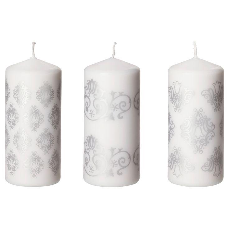 SNÖMYS Pöytäkynttilä - IKEA, 15 cm, 1,99e / kpl Mielellään yhtä kuviota kerralla kolme :)