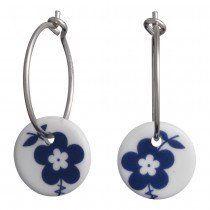 Andersen Finest Porcelain Hoop Earrings NATURE 399 082