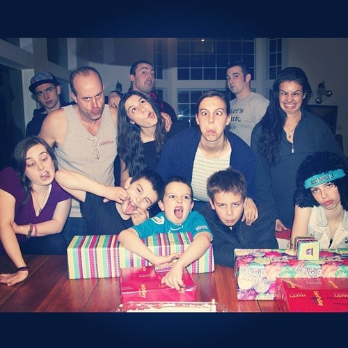 A sentimental moment with the Cimorelli family…