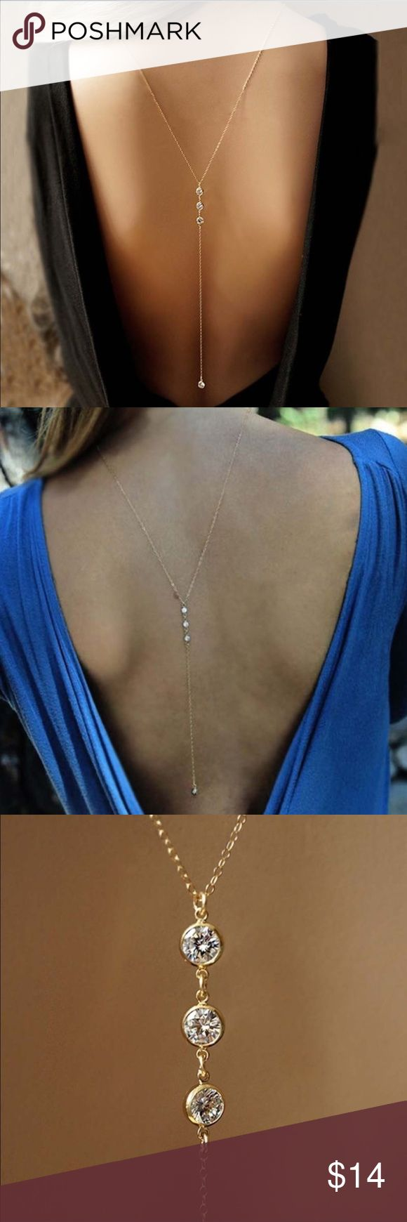 Sexy Rhinestone Back Sparkly Body Chain Sexy Rhinestone Back Sparkly Body Chain. The last photo shows what the front looks like. Jewelry
