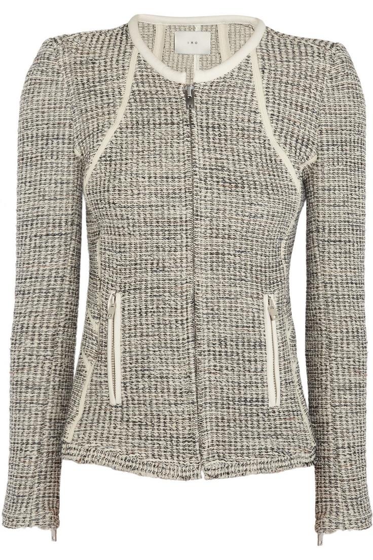IRO   Noelia metallic tweed jacket  