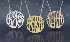 Groupon - Personalized Sterling Silver Monogram Necklace from Monogram Online. Multiple Styles Available. in Online Deal. Groupon deal price: $39.99