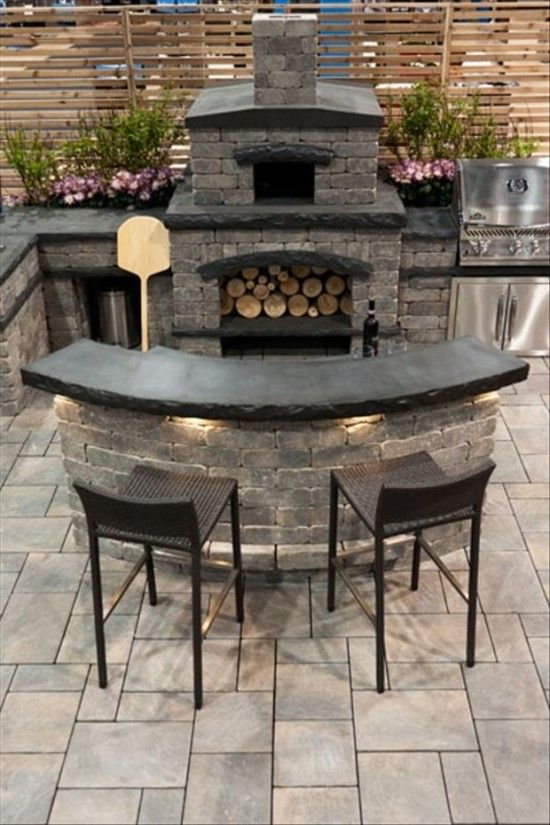 Outdoor kitchen idea - OMG!!! I want in my backyard! :P