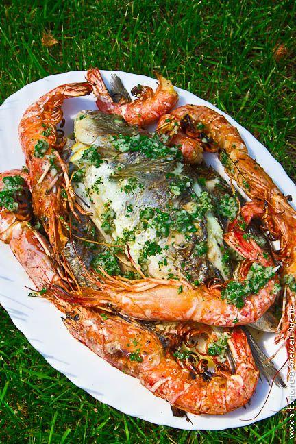 Рыба и морепродукты на гриле рецепт с фото | Национальная ...