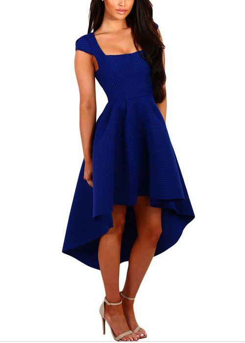 Compre Vestido Mullet Rodado E Decote Quadrado - 3 cores | UFashionShop