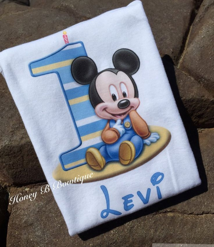 Baby Mickey Mouse First Birthday Shirt/Onesie Baby Mickey