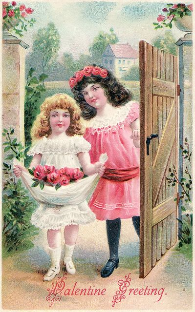 I ❤ vintage ephemera . . . Valentine Postcard- Addressed, with a one cent stamp, 1906. Printed in Germany.