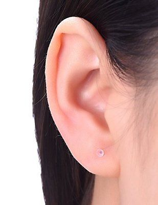 Clear Plastic Ear Piercing Retainers - 6 Pairs