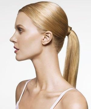 Add body to a ponytail by spraying dry shampoo midway down the tail. Fluff with fingers and set with hair spray.