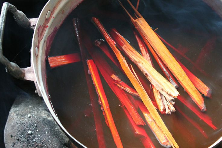 Natural dye from the Sappan Tree - Dyeing at Ock Pop Tock in Luang Prabang