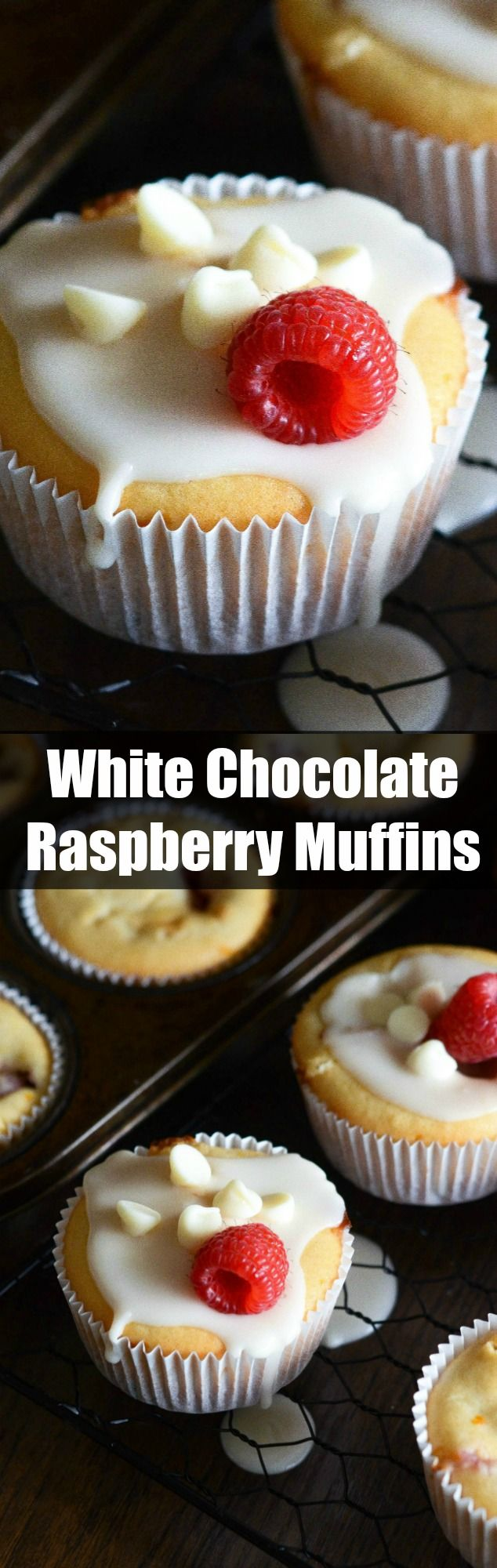 White Chocolate Raspberry Muffins - these easy one bowl muffins are filled with fresh raspberries, white chocolate chips and a hint of orange zest!