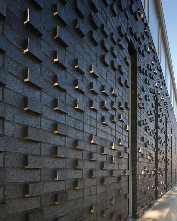 Textured Brick Wall Iowa Prison Industries Outlet Building Des Moines Ia Residential Architectarchitect Designdes
