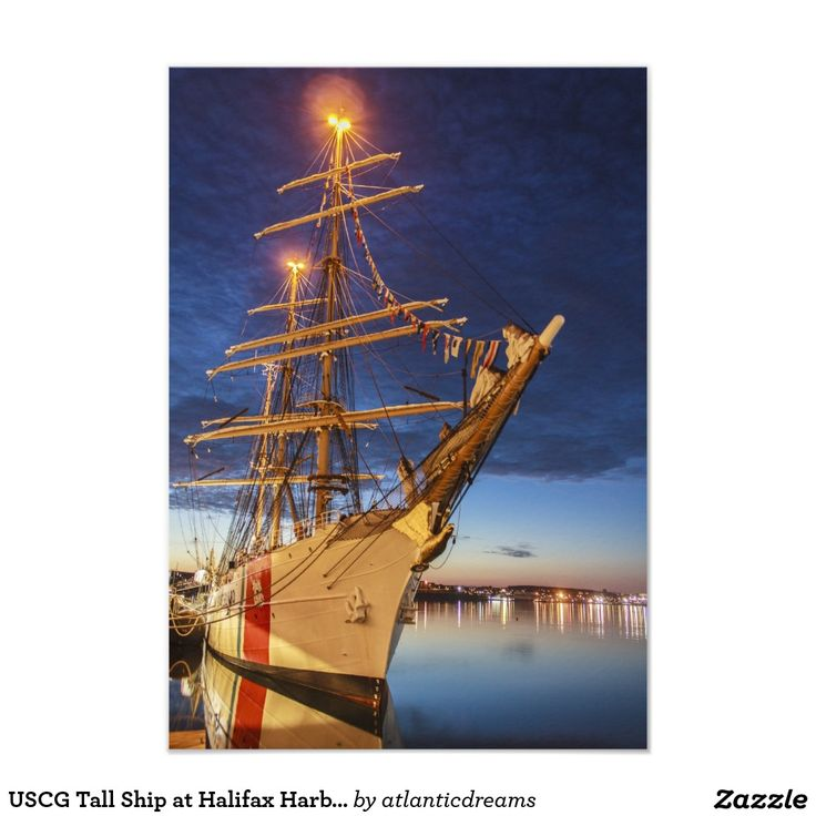USCG Tall Ship at Halifax Harbour, Nova Scotia, Ca 3.5x5 Paper Invitation Card