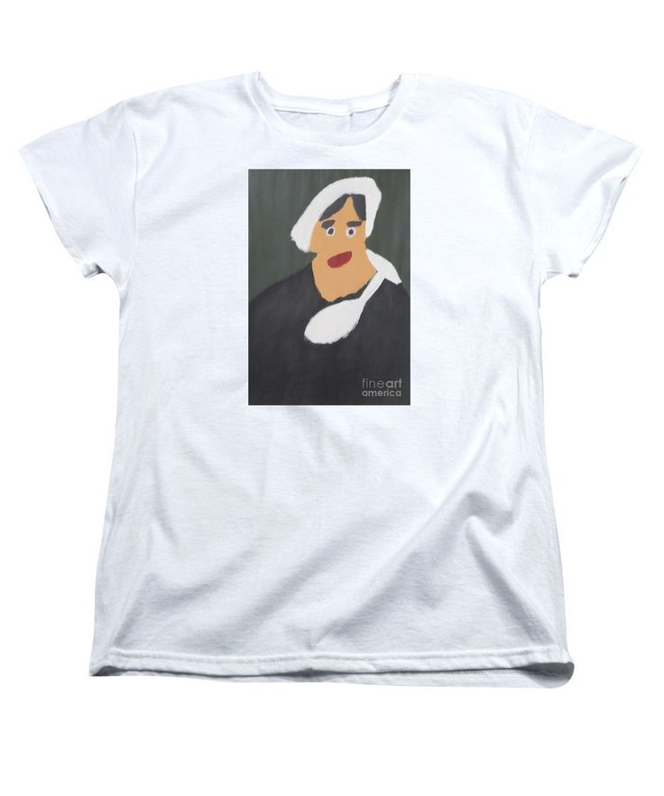 Patrick Women's T-Shirt featuring the painting Portrait Of A Woman With White Cap 2015 - After Vincent Van Gogh by Patrick Francis