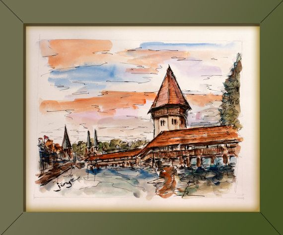 "This original water color is signed in front and back by the artist and includes a certificate of authenticity. The size of this water color is 14.25 X 10.75. It does NOT come with frame. The artist, Jorge Garza was born in Mexico city where he attained a degree in Architecture and Fine Arts at the ""Universidad Iberoamericana"". He lived in Montreal, Canada and now in San Diego, California. For over 20 years parallel to his architectural work, Jorge started painting. After extensive traveling…"