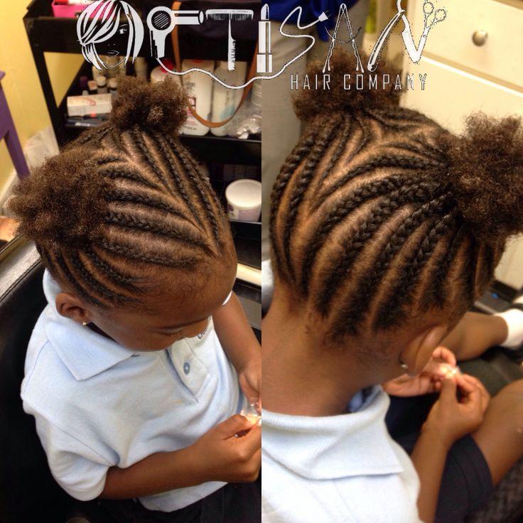 Kid hairstyle cornrows