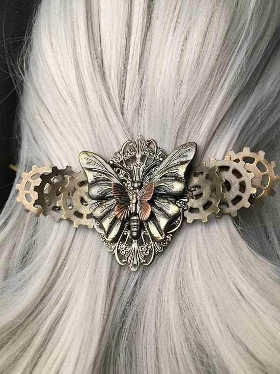 Wedding Hair Accessories or Butterfly by ArcanumByAerrowae on Etsy