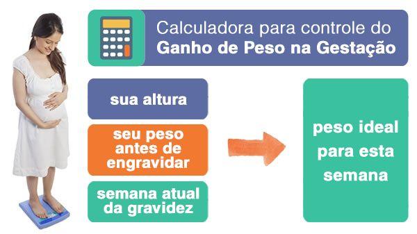 calculadora para controle do Ganho de Peso na Gestação