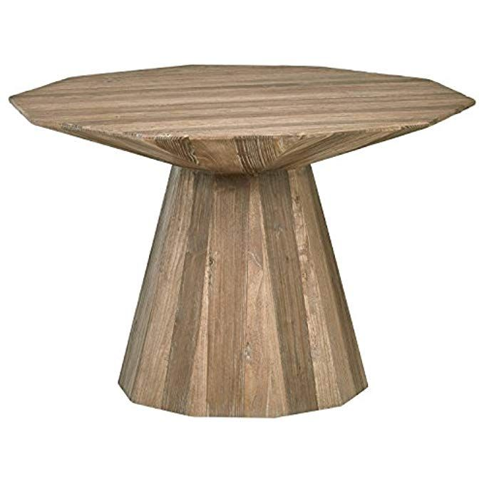 Rivet Modern Global Hexagonal Elm Dining Table 47 2 W Natural