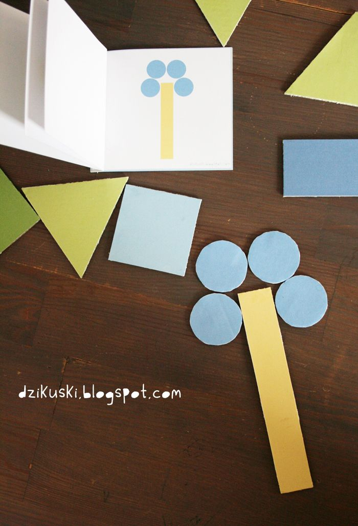Drukowana gra w odwzorowywanie kształtów.