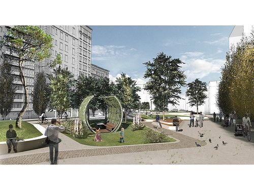 "Regeneration of the Agias Sofias - Acheiropoeitos axis of Thessaloniki / competition | OFFICETWENTYFIVEARCHITECTS in collaboration with VANDOROS ALEXIOS, participated at this years biggest Greek Architectural Competition of Ideas for the project ""Regeneration – Promotion of the Agias Sofias - Acheiropoeitos axis, of the Municipality of Thessaloniki"""