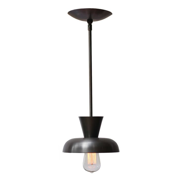 Cedar & Moss Isle Rod Pendant. Shown in modern black. A great light fixture for a dining room or over a kitchen island.