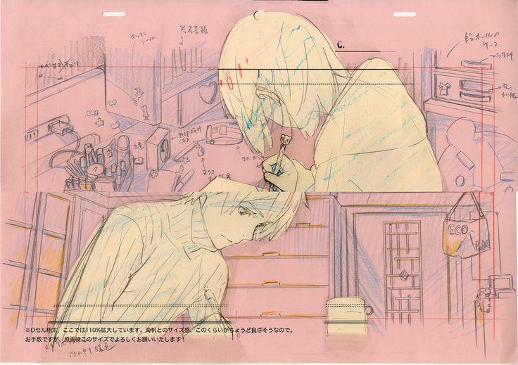 Z会 受験生応援ストーリー「クロスロード」について-レイアウト(田中将賀 背景原図:新海誠)