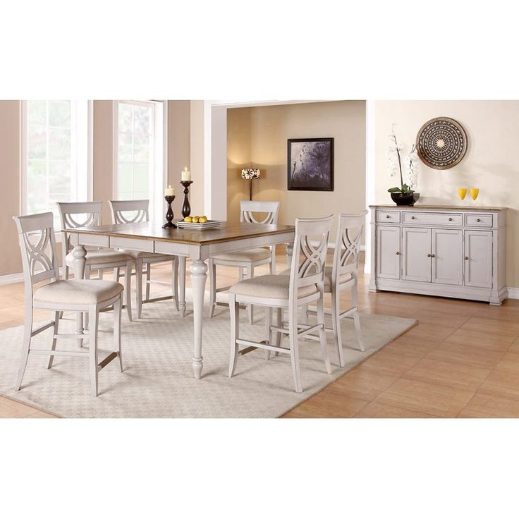 Emerald Home Brighton Dove Gray 7 Piece Counter Height Set   Your Casual  Yet Elegant Conversation