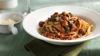 Spaghetti Bolognese this with Courgetti pasta is amazing
