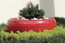 Resultado de imagem para pintura em pneus para jardins