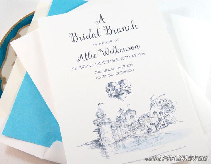 Little Mermaid Bridal Shower Invitations, Fairytale Wedding, Disney, Hand Drawn (set of 25 cards & envelopes) by MagicWandWeddings on Etsy https://www.etsy.com/listing/511608413/little-mermaid-bridal-shower-invitations