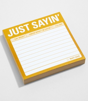 Just Sayin' Sticky Notes $4.00