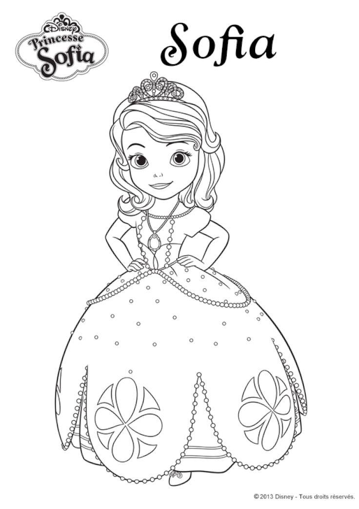 Coloriage princesse Sofia | Coloriage sofia, Coloriage princesse