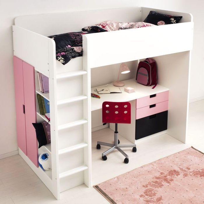 ikea stuva loft bed house stuff pinterest kinderzimmer hochbetten und bett. Black Bedroom Furniture Sets. Home Design Ideas