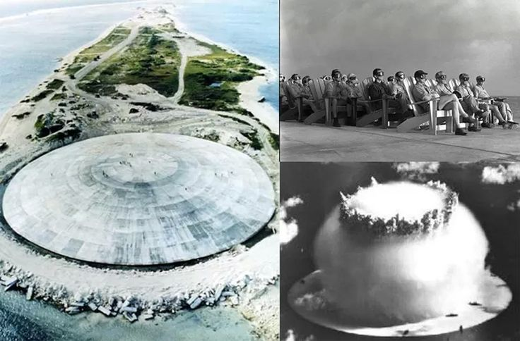 Nuclear Vault - A lid to a nuclear waste vault Birth: 1977-1980 Location: Runit Island, Enewetak Atoll, Marshall Islands Architect: USA                                                                                                                                                                                 More