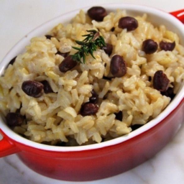 jamaican rice and peas jamaican rice and peas  cooked in