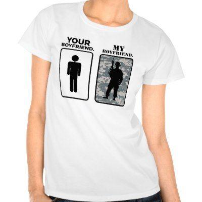 Uw Vriend, Mijn Vriend - Militair Vriendin T Shirt