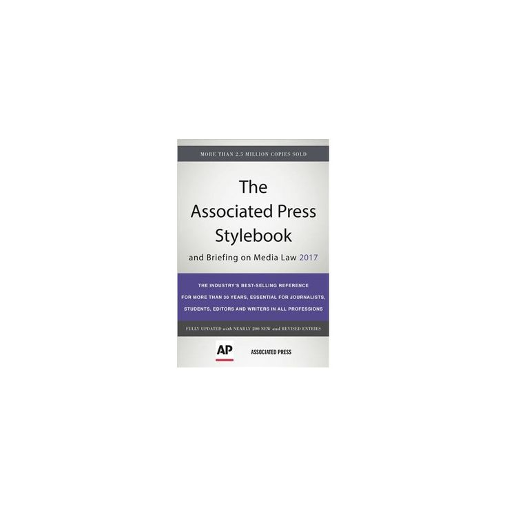 Associated Press Stylebook 2017 : And Briefing on Media Law (Paperback)