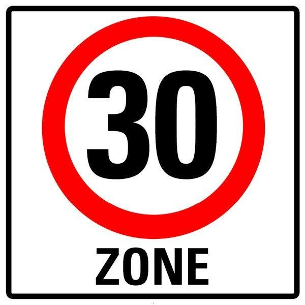 Kopie Von Einladung Zum 30 Geburtstag Verkehrsschild 30 Zone