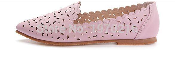 2017 de la moda de piel de becerro de perforación Láser agujero Zapatos casuales Eu43, patrón de flores de Gran tamaño US10.5 ahueca hacia fuera los planos de Las Mujeres mocasines