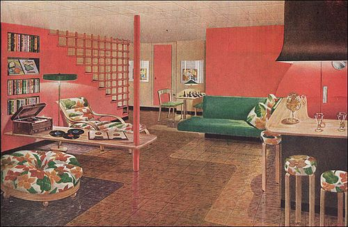 1946 Mid Century Basement by Armstrong, via Flickr.