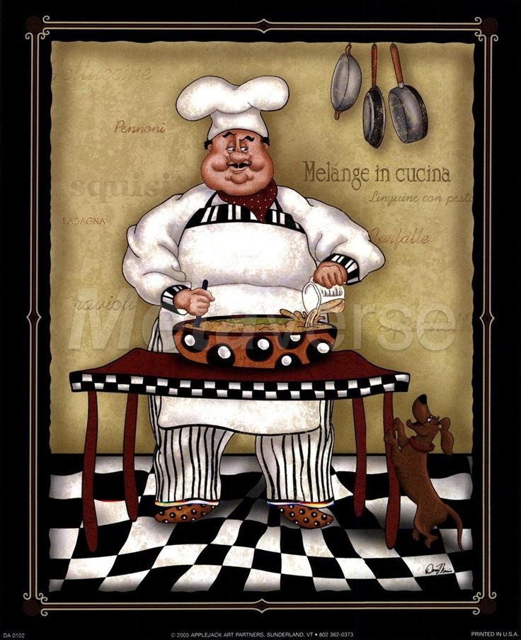 Frameless Modern Cartoon Chefs Canvas Prints Restaurant: 17 Best Images About A Chef Is Art! On Pinterest