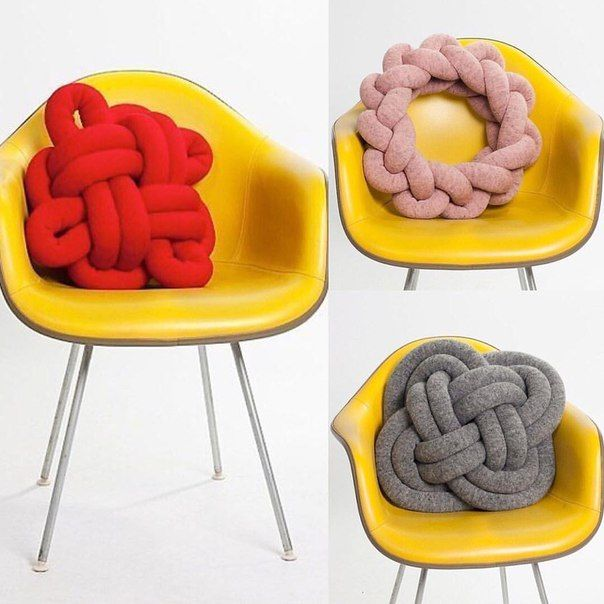 Pillows by hands